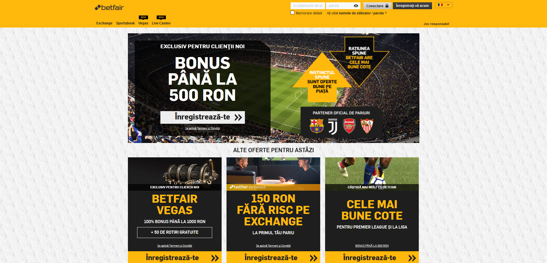 Betfair website