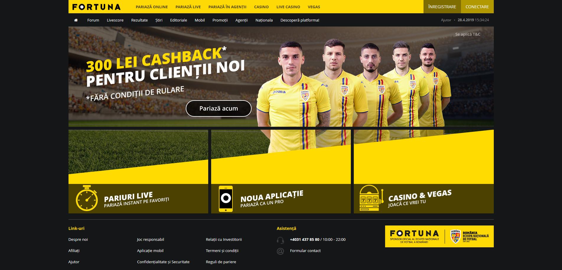 Fortuna website